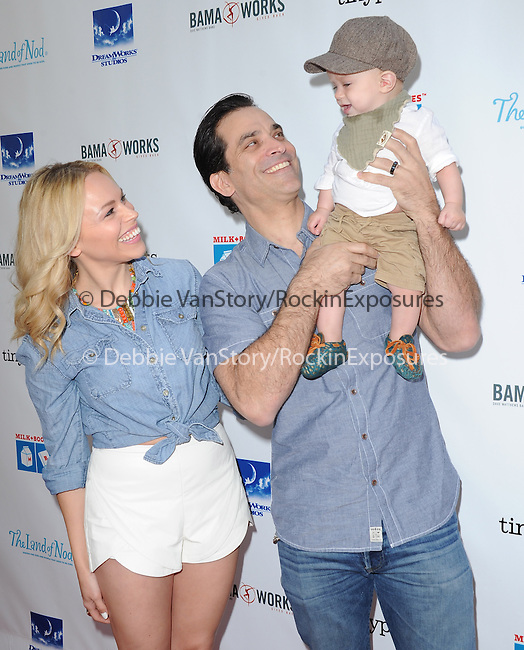 Johnathon Schaech and family attends The Milk + Bookies Story Time Celebration held at The Skirball Center in Los Angeles, California on April 27,2014                                                                               © 2014 Hollywood Press Agency