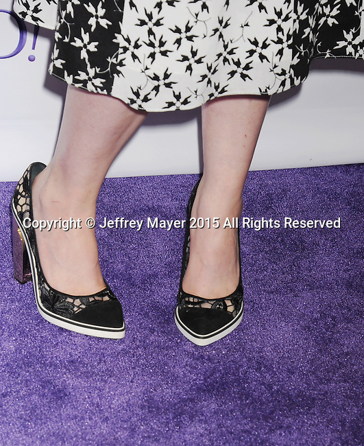 HOLLYWOOD, CA - MARCH 08: Creator/Executive producer Lena Dunham (shoe detail) The Paley Center For Media's 32nd Annual PALEYFEST LA - 'Girls' at Dolby Theatre on March 8, 2015 in Hollywood, California.