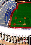 Aerial view of the Philadelphia Phillies Veterans Stadium.