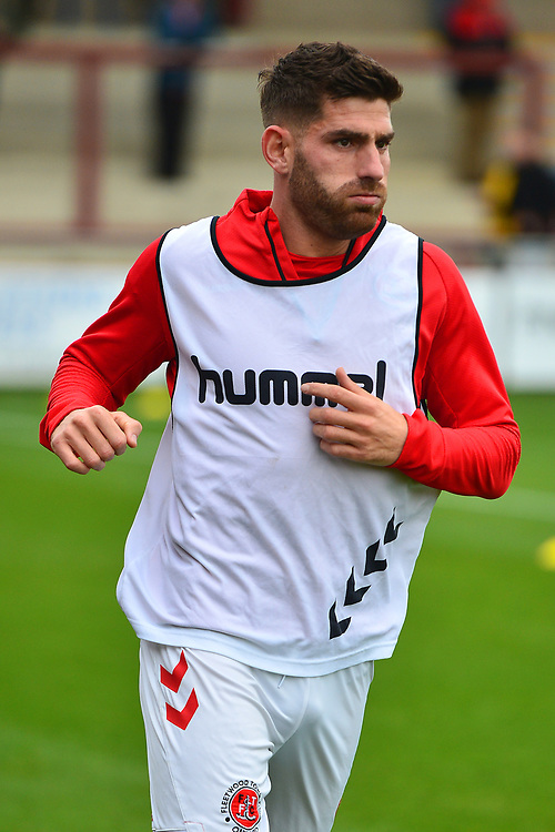 Fleetwood Town's Ched Evans warms up prior to the match<br /> <br /> Photographer Richard Martin-Roberts/CameraSport<br /> <br /> The EFL Sky Bet League One - Fleetwood Town v Ipswich Town - Saturday 5th October 2019 - Highbury Stadium - Fleetwood<br /> <br /> World Copyright © 2019 CameraSport. All rights reserved. 43 Linden Ave. Countesthorpe. Leicester. England. LE8 5PG - Tel: +44 (0) 116 277 4147 - admin@camerasport.com - www.camerasport.com