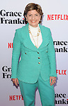 Gloria Allred arriving at the Grace and Frankie Season 2 Premiere held at Harmony Gold on May 1, 2016