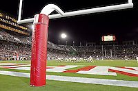 16 September 2006: The field goal posts during Stanford's 37-9 loss to Navy during the grand opening of the new Stanford Stadium in Stanford, CA.