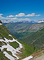 Vertical image of view from Going to the Sun Road in Glacier National Park