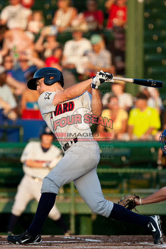 Shortstop Josh Prince #17 of the Brevard County Manatees during the game against the Daytona Beach Cubs at Jackie Robinson Ballpark on April 9, 2011 in Daytona Beach, Florida. Photo by Scott Jontes / Four Seam Images