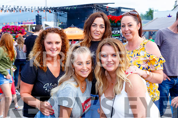 Elaine Doyle, Lanna Loughnane, Colette  O'Leary, Dee Nolan and Peig O'Sullivan  at  Bike fest on Sunday