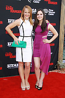"Katie Leclerc, Vanessa Marano <br /> 06/22/2013 ""The Lone Ranger"" Premiere held at Disneyland in Anaheim, CA Photo by Mayuka Ishikawa / HollywoodNewsWire.net /iPhoto"