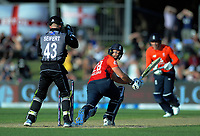 England's Dawid Malan bats during the 4th Twenty20 International cricket match between NZ Black Caps and England at McLean Park in Napier, New Zealand on Friday, 8 November 2019. Photo: Dave Lintott / lintottphoto.co.nz