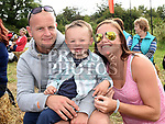 Val and Ethan Reilly and Emma Moore at the Seafood Rocks festival in Clogherhead. Photo:Colin Bell/pressphotos.ie