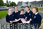 Students attending Presentation Secondary School, Tralee, pictured after completing English Paper 1 in the Leaving Certificate on Wednesday morning were l-r: Honor Sugrue, Alice Jaeger, Ailbhe Foley, Anna Farrell and Caoimhe Glavin.
