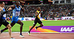 Ricardo CUNNINGHAM (JAM) in the mens 400m hurdles semi-final. IAAF world athletics championships. London Olympic stadium. Queen Elizabeth Olympic park. Stratford. London. UK. 07/08/2017. ~ MANDATORY CREDIT Garry Bowden/SIPPA - NO UNAUTHORISED USE - +44 7837 394578