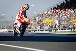 The rider Cal Crutchlow during the MotoGP race of Le Mans in France. 05/18/2014. Samuel de Roman/Photocall3000