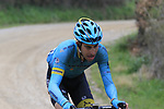 Fabio Aru (ITA) Astana climbs gravel sector 8 Monte Santa Maria during the 2017 Strade Bianche running 175km from Siena to Siena, Tuscany, Italy 4th March 2017.<br /> Picture: Eoin Clarke | Newsfile<br /> <br /> <br /> All photos usage must carry mandatory copyright credit (&copy; Newsfile | Eoin Clarke)