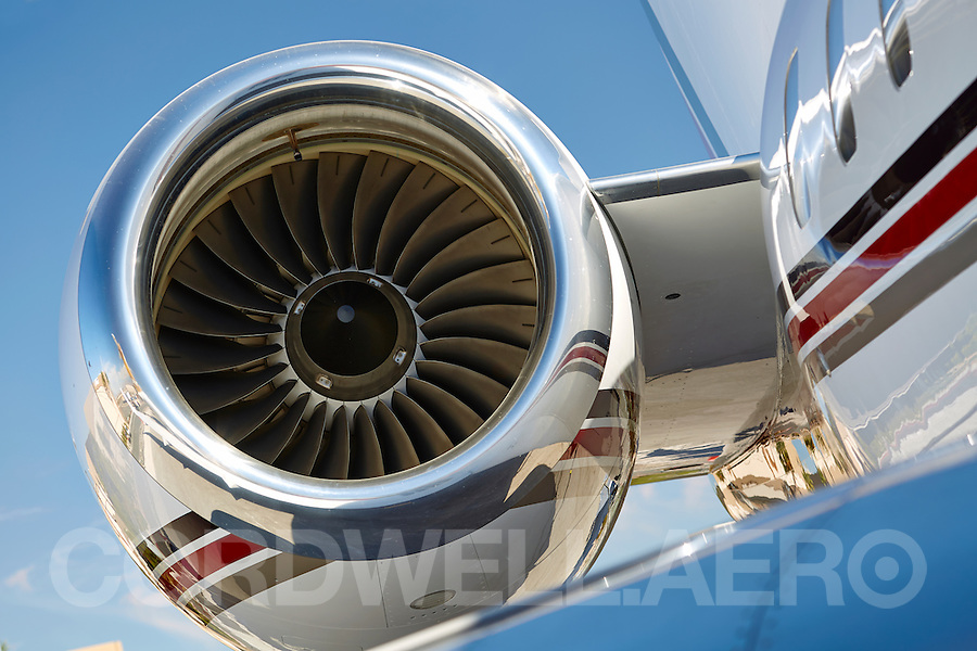 Bombardier Global 5000 engine, tail and wing NBAA 2013
