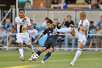 San Jose, CA - Monday July 10, 2017: Jahmir Hyka, Rafael Garcia during a U.S. Open Cup quarterfinal match between the San Jose Earthquakes and the Los Angeles Galaxy at Avaya Stadium.