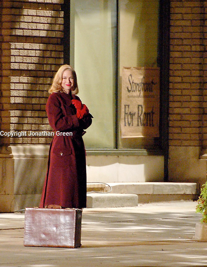 """Renee Zellweger Filming""""LEATHERHEADS"""" BEING FILMED IN STATESVILLE, NORTH CAROLINA. 05-17-2007 .PHOTO BY JONATHAN GREEN"""