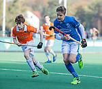 BLOEMENDAAL  - Hugo van Beijma thoe Kingma (Bldaal)  , competitiewedstrijd junioren  landelijk  Bloemendaal JB1-Kampong JB1 (4-3) . COPYRIGHT KOEN SUYK