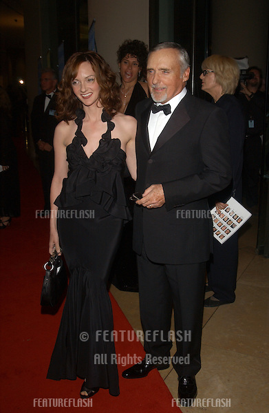 Actor DENNIS HOPPER & wife at the 18th Annual American Cinematheque Gala honoring Nicole Kidman..November 14, 2003