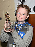 Ardee United Under 12 player of the year Jack McEvoy  at the Ardee Celtic annual awards night in Ardee parish centre. Photo:Colin Bell/pressphotos.ie
