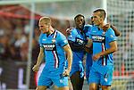 Nederland, Rotterdam, 13 september 2014<br /> Eredivisie<br /> Seizoen 2014-2015<br /> Feyenoord-Willem ll<br /> Frank van der Struijk (l.) van Willem ll balt zijn vuisten, nadat hij de 0-1 heeft gescoord.