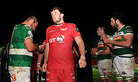 Scarlets' Dan Jones at full time<br /> <br /> Photographer Ashley Crowden/CameraSport<br /> <br /> Guinness PRO12 Round 19 - Scarlets v Benetton Treviso - Saturday 8th April 2017 - Parc y Scarlets - Llanelli, Wales<br /> <br /> World Copyright &copy; 2017 CameraSport. All rights reserved. 43 Linden Ave. Countesthorpe. Leicester. England. LE8 5PG - Tel: +44 (0) 116 277 4147 - admin@camerasport.com - www.camerasport.com