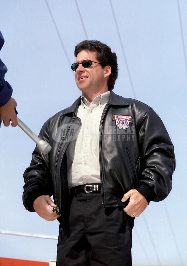 Feb. 14, 1998; Daytona Beach, FL, USA; NASCAR Winston Cup Series driver Greg Sacks during practice for the Daytona 500 at the Daytona International Speedway. Mandatory Credit: Mark J. Rebilas-