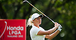 CHON BURI, THAILAND - FEBRUARY 16:  Suzann Pettersen of Norway tees off on the 15th hole during day one of the LPGA Thailand at Siam Country Club on February 16, 2012 in Chon Buri, Thailand.  Photo by Victor Fraile / The Power of Sport Images