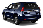 Car pictures of rear three quarter view of 2018 Toyota Land-Cruiser-150 Premium 5 Door SUV Angular Rear