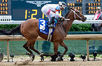 LOUISVILLE, KY - MAY 04: Mia Mischief, #3, ridden by Ricardo Santana Jr win the Eight Belles, an undercard race on Kentucky Oaks Day at Churchill Downs on May 4, 2018 in Louisville, Kentucky. (Photo by Sue Kawczynski/Eclipse Sportswire/Getty Images)