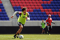 Mehdi Ballouchy (10) of the New York Red Bulls during practice on Media Day at Red Bull Arena in Harrison, NJ, on March 15, 2011.