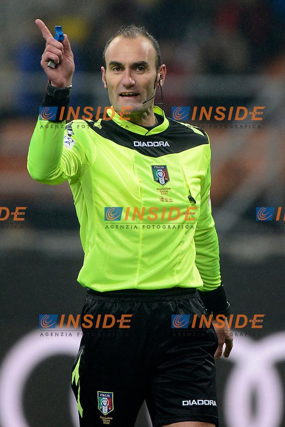 Carmine Russo arbitro. Referee<br /> Milano 12-01-2017 Stadio Giuseppe Meazza - Football Calcio Coppa Italia Milan - Torino. Foto Giuseppe Celeste / Insidefoto