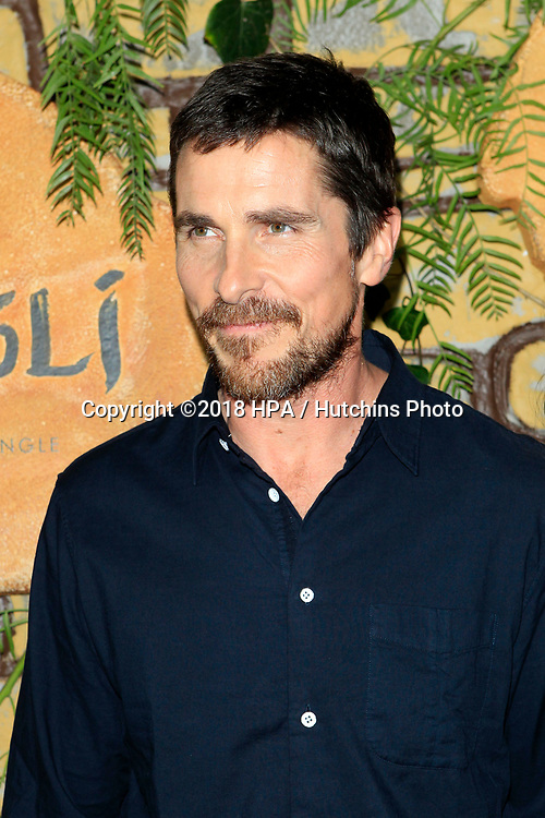 """LOS ANGELES - NOV 28:  Christian Bale at the """"Mowgli: Legend of the Jungle"""" Premiere at the ArcLight Theater on November 28, 2018 in Los Angeles, CA"""