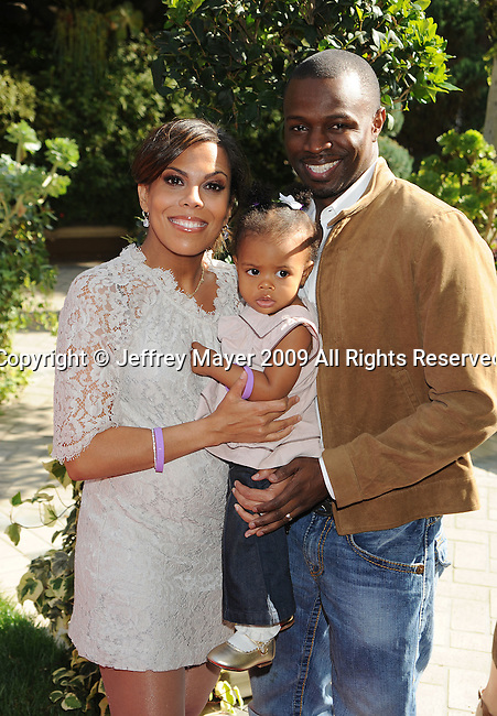 LOS ANGELES, CA. - November 07: Sean Patrick Thomas and family arrive at the March of Dimes 4th Annual Celebration of Babies at the Four Seasons Hotel on November 7, 2009 in Los Angeles, California.
