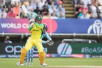 Alex Carey (Australia) mis - times his pull shot during Australia vs England, ICC World Cup Semi-Final Cricket at Edgbaston Stadium on 11th July 2019