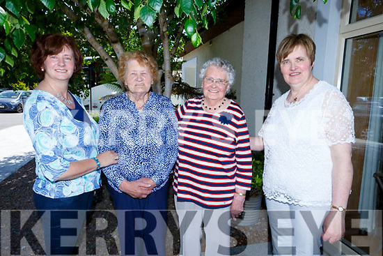 Peggy and Joan Herlihy (Ballydesmond), Nora Daly (Scartaglin) and Shiela Hanley (Kenmare) at the the Sliabh Luachra Active Retired Gala Tea Dance in the Ballygarry Hotel on Monday.