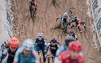 crashing into the infamous &quot;Pit&quot;...<br /> <br /> Women's race<br /> Superprestige Zonhoven (BEL) 2018