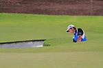 Dubai World Championship Golf. Earth Course,.Jumeirah Golf Estate, Dubai, U.A.E...Padraig Harrington playing his third shot out of the bunker on the third hole during the third round of the Dubai World Golf championship..Photo: Fran Caffrey/www.golffile.ie...