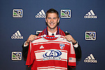 January 17th, 2013: #7 draft pick Walker Zimmerman, selected by FC Dallas. The 2013 MLS SuperDraft was held during the NSCAA Annual Convention held in Indianapolis, Indiana.