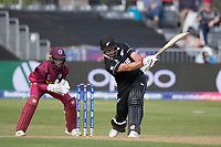 Colin de Grandhomme (New Zealand) pulls to mid wicket during West Indies vs New Zealand, ICC World Cup Warm-Up Match Cricket at the Bristol County Ground on 28th May 2019