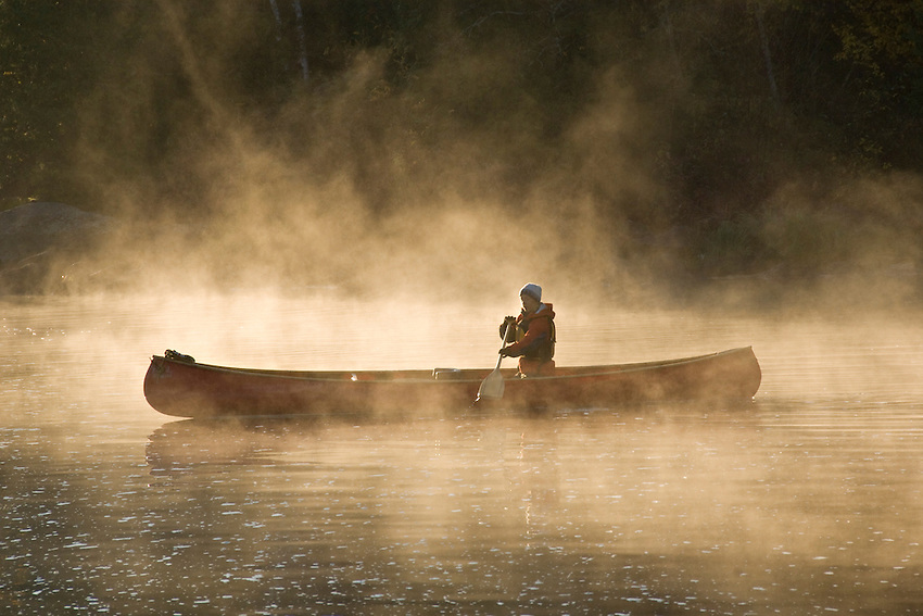 Canoeing Boundary Waters Canoe Wilderness Area in northern Minnesota.