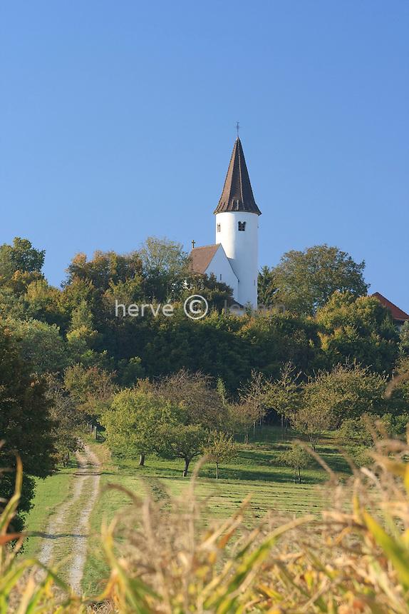 France, Alsace, Bas-Rhin, 67, Berg, chapelle du Kirchberg // France, Alsace, Bas-Rhin, Berg, chapel of Kirchberg