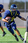 Santa Monica, CA 10/17/13 - unidentified Santa Monica player(s) in action during the Peninsula vs Santa Monica Junior Varsity football game at Santa Monica High School.