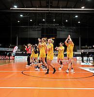 1. Bundesliga Handball Frauen - Punktspiel HC Leipzig (HCL) : DJK / MJC Trier - Arena Leipzig - im Bild: HCL Jubel - Sieg nach Maß. Foto: Norman Rembarz ..
