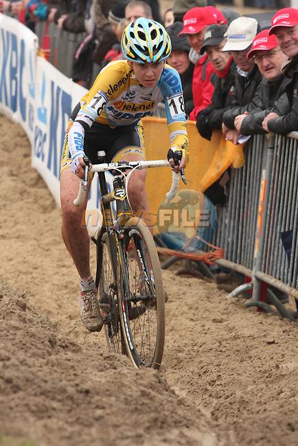 Nikki Harris in the sand