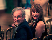 Steven Spielberg and wife Kate Capshaw at the reception in the East Room of the White House in Washington, D.C. for the  37th Kennedy Center  Honorees on Sunday, December 7, 2014.<br /> Credit: Dennis Brack / Pool via CNP