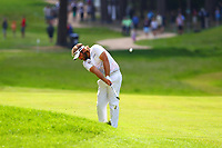 Victor Dubuisson  drives on the 16th fairway during the BMW PGA Golf Championship at Wentworth Golf Course, Wentworth Drive, Virginia Water, England on 27 May 2017. Photo by Steve McCarthy/PRiME Media Images.