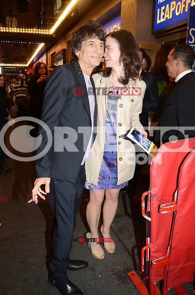 Ronnie Wood and Nicola Sargent at the 'Leap Of Faith' Broadway Opening Night at the St. James Theatre on April 26, 2012 in New York City. © Amy Pinard/MediaPunch Inc.