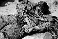 Jasenovac / Croatia.One of the victims of the Ustasha pro-nazi concentration and extermination camp..This historical picture has been reproducted in Belgrade Museum of the holocaust. Most of the prisoners of the camp were serbs, roma and jews. .Photo Livio Senigalliesi