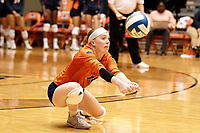 SAN ANTONIO, TX - SEPTEMBER 23, 2018: The University of Texas at San Antonio Roadrunners sweep the University of North Texas Mean Green 3-0 (25-22, 27-25, 25-21) at the UTSA Convocation Center. (Photo by Jeff Huehn)
