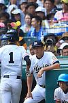 (R-L)  Yoshiharu Nakamura, Shigetaro Imai (Mie),<br /> AUGUST 25, 2014 - Baseball :<br /> 96th National High School Baseball Championship Tournament final game between Mie 3-4 Osaka Toin at Koshien Stadium in Hyogo, Japan. (Photo by Katsuro Okazawa/AFLO)
