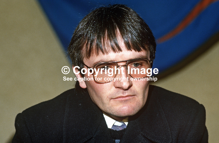 Seamus Cassidy, councillor, Provisional Sinn Fein, Dungannon, N Ireland, 19860101SC..Copyright Image from Victor Patterson, 54 Dorchester Park, Belfast, United Kingdom, UK...For my Terms and Conditions of Use go to http://www.victorpatterson.com/Victor_Patterson/Terms_%26_Conditions.html